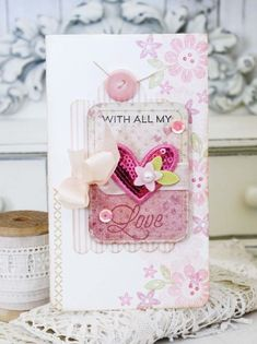 With All My Heart Card by Melissa Phillips for Papertrey Ink (January 2016)
