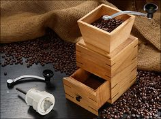 Coffee Mill Mechanism - Woodworking