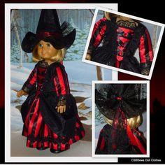 American Girl Doll Halloween Gothic by CSBSewsDollClothes on Etsy, $68.00