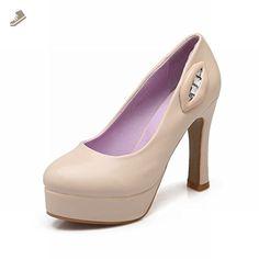 Latasa Women's Fashion Lips Platform Thick High-heel Dress Pumps Shoes (5, beige) - Latasa pumps for women (*Amazon Partner-Link)