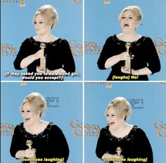When she had this reaction after being asked if she'd ever play a Bond girl. | 27 Times Adele Proved She's Actually The Realest Celebrity Of All