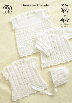 1ef18fe45c3 ζακετακια κοριτσακια · Baby Cardigan & Bonnet Knitting Pattern - 3366 -  King Cole Πλεκτά Για Μωρά, Tricot