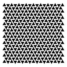 Negative space triangle pattern, black & white pattern inspiration