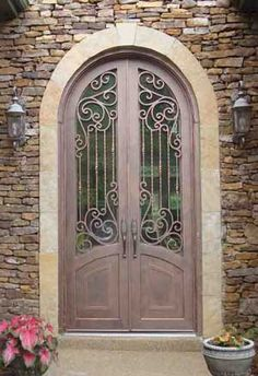wrought iron Tuscan Doors | Double Iron Doors | Entry | Exterior | Front | Wrought | Custom ...