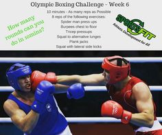 Sportsfit Challenge Week 6 - Olympic Boxing Challenge.  Great effort on week 5 with our track & field challenge the competition is really heating up. We had two team get on to the 7th round and a big welcome to our newbieee team Genevieve Mitchell & Laura Balfour:) #newbieees The Olympic Boxing Challenge will be tough so we look forward to seeing how many rounds our teams can complete and of course them post workout selfies or videos.  All new challengers are welcome :) and you could be in…