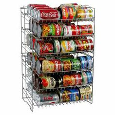 Atlantic Compact Double Can Rack Holder Organizer Home Kitchen Pantry Storage in Home & Garden, Kitchen, Dining & Bar, Kitchen Storage & Organization Can Storage, Space Saving Storage, Pantry Storage, Pantry Organization, Kitchen Storage, Food Storage, Storage Ideas, Storage Solutions, Organized Pantry