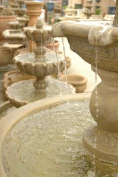 concrete flowing fountains