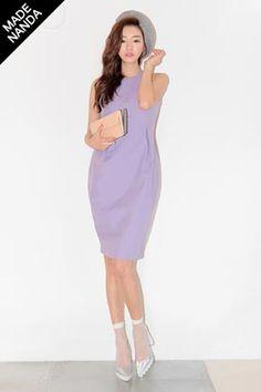 Lovin the colour of the dress and shoes Korean Online Shopping, Korean Dress, Dresses For Work, Formal Dresses, Stylenanda, Halter Neck, Korean Fashion, What To Wear, Slim