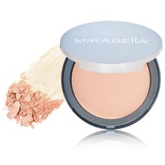 Mirabella Pure Press Mineral Powder - II at blush