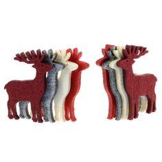 Felt Reindeer Hanging Decorations   Past Times