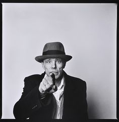 "Joseph Beuys, artist. ""Man is only truly alive when he realizes he is a creative, artistic being."""