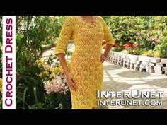 How to crochet a lace dress - pineapple stitch. Part 1 of 2. - YouTube