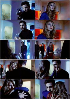 Kara and Mon-El's expressions when they see each other again on the (Legion?) ship just...<3 <3 <3. I had a feeling these two were going to break my heart, but that's okay. Man, I loved this episode! |TV Shows|CW|#Supergirl Season 3|3x07|Wake Up|Kara/Mon-El|#Karamel edit|Melissa Benoist|Chris Wood|#DCTV|Favorite couples|