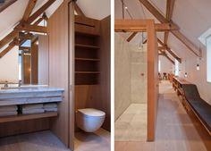 Victorian boathouse renovation by Alex Cochrane, Oak Veneer, Dinesen Douglas Fir floorboards, Remodelista