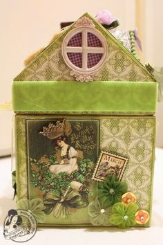 Denise Hahn Place in Time and Secret Garden Paper Mache Cottage - 7-imp