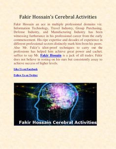 Fakir Hossain's Cerebral Activities | Fakir Hossain Eden College London by Fakir Hossain via slideshare