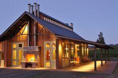 Soter Vineyard Tasting Room Pole Barn farmhouse exterior