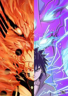 Naruto Uzumaki and Sasuke Uchiha - Anime Naruto Shippuden Sasuke, Naruto Kakashi, Anime Naruto, Naruto Sasuke Sakura, Sasunaru, Sasuke Mangekyou Sharingan, Sasuke Eyes, Konoha Naruto, Shikamaru