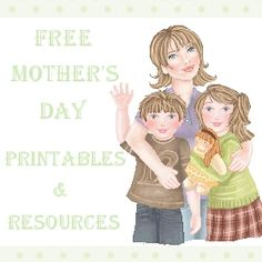 Huge List of Free Mother's Day Printables - fun for activities for grandparents and grandchildren too!