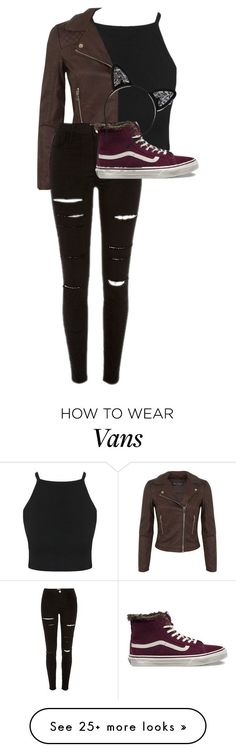 """Untitled #325"" by gabi3773 on Polyvore featuring moda, Miss Selfridge, Vans y Maison Michel"