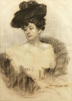 Ramon Casas i Carbó - Retrato de dama, 1905
