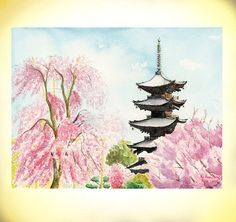 Hey, I found this really awesome Etsy listing at http://www.etsy.com/listing/123075121/cherry-blossom-japanese-temple-to-ji