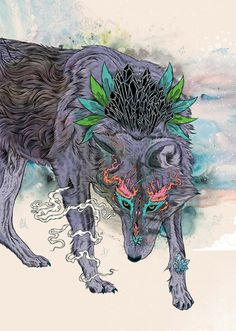 Mat Miller Journeying Spirit I dreamt of a wolf like this...