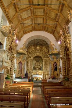 Golden interior of the Misericordia church in Caminha. Discover Why You Should Visit Caminha in Northern Portugal   Julie Dawn Fox in Portugal