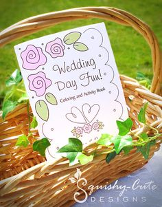Wedding Coloring Book  Kids Wedding Favors  by SquishyCuteDesigns, $5.99
