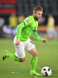 Jakub Blaszczykowski of Wolfsburg in action during the Bundesliga match between VfL Wolfsburg and SC Freiburg at Volkswagen Arena on April 5, 2017 in Wolfsburg, Germany.