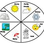This is a simple colored weather chart that can easily be laminated and students…