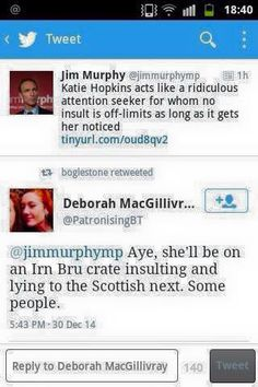 @PatronisingBT Turns out my comment has 'gone' from @jimmurphymp feed. You can only see if you rt or replied to me. @MorphyJim