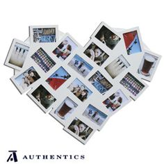Heart shaped multi photo frame by Authentics