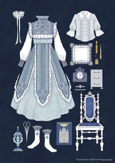 Stunning Draw a Fashionable Dress Ideas. Exhilarating Draw a Fashionable Dress Ideas. Moda Lolita, Lolita Mode, Vintage Fashion Sketches, Fashion Design Sketches, Anime Outfits, Cute Outfits, Kleidung Design, Fashion Art, Fashion Outfits