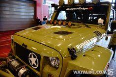2014 SEMA Commando Green Rugged Ridge Kilroy Jeep JK Wrangler Unlimited