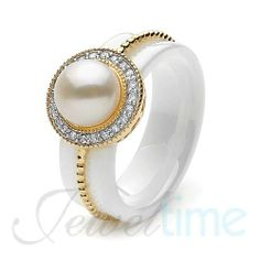 Ikecho ceramic pearl ring