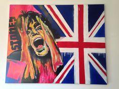 Mick Jagger acryl op linnen 100x80