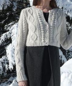 Bleak cardigan by Kim Hargreaves, knit by Dayana Knits. Yarn is Rowan Brushed Fleece.