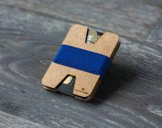 Slim wooden wallet credit card holder men's and by ElephantWallet