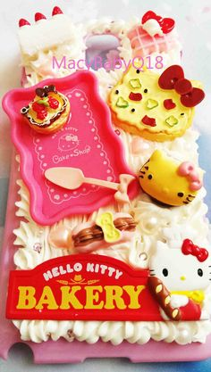 Hello Kitty Limited edition bakery miniature case for Samsung Note 3 or iPhone's