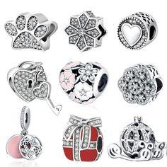 Fit Pandora Charm Original Bracelet Silver 925 2016 Autumn Winter DIY  Berloque Enamel Poetic Bloom With de093b66d2a8