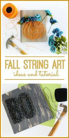 Fall String Art Ideas and Tutorial | Sugar Bee Crafts | Bloglovin'