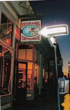 Headlands Coffeehouse in Fort Bragg, CA--We lived a block away from here during G's internship year.