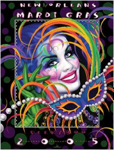 2005 Andrea Mistretta Mardi Gras Art Print Peekaboo New Orleans Famous Artist Art Prints, Jazz Artwork, Famous Artists, Drawings, Holiday Pictures, Bead Art, Art, Pour Painting, Poster