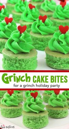 Looking for a unique treat for a Christmas Party?  How about Grinch Cake Bites for a Grinch Holiday Party.  This fun and delicious and Grinchy Christmas Party Dessert is always a crowd pleaser at a Christmas Party for Kids or a Family Christmas Party. #ChristmasPartyFood #ChristmasPartyforKids #FamilyChristmasParty #ChristmasPartyDessert