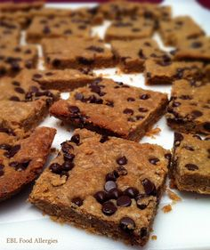 This is a great recipe for those with food allergies by EBL Food Allergies: Sunbutter Chocolate Bars top8free Dairy-Free, Soy-Free, Egg-Free, Nut-Free, Wheat-Free, Gluten-Free