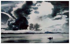 Titale: Cloud Media: watercolor on paper