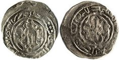 """Silver dirham coin minted in Almaty in 684 AD. Almaty was under the Russian Empire from 1867 to 1921 and under the Soviet Union from 1921 to 1993, is the former capital of Kazakhstan. In the 10–14th centuries, settlements in the territory of the so called """"Big Almaty"""" became part of the trade routes of the Silk Road. At that time, Almaty became one of the trade, craft and agricultural centers on the Silk Road and possessed an official mint. Taklamakan Desert, Asian Continent, The Han Dynasty, Silk Road, Coins, Kazakhstan, Soviet Union, Empire, Crafts"""