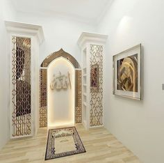 47 Praying Room Interior Design That You Can Try In Your Home # Design Prayer Corner, Islamic Decor, Prayer Room, Prayer Closet, Room Interior Design, Interior Modern, Home Interior, Room Inspiration, Decoration