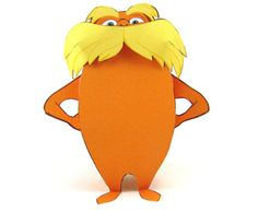 Lorax printable paper toy and TONS of other FREE Lorax printables. 3d Paper Crafts, Paper Toys, Fun Crafts, Dr Seuss Week, Dr Suess, Carl Y Ellie, Dr Seuss Activities, Dr Seuss Birthday, 2nd Birthday